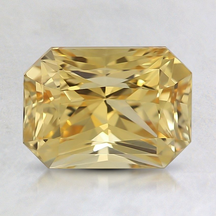 7.9x5.9mm Unheated Yellow Radiant Sapphire