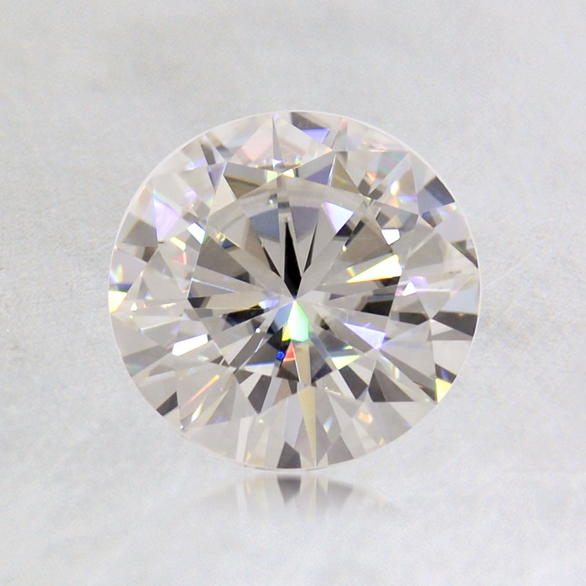 6.5mm Round Moissanite, top view