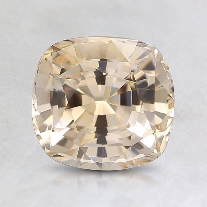 6.9x6.5mm Unheated Cushion Peach Sapphire