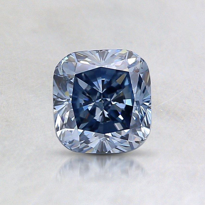 0.66 Ct. Fancy Blue Cushion Lab Created Diamond