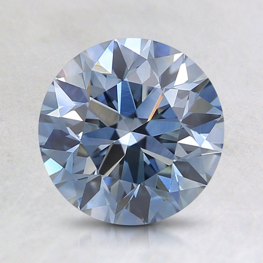1.49 Ct. Fancy Blue Round Lab Created Diamond