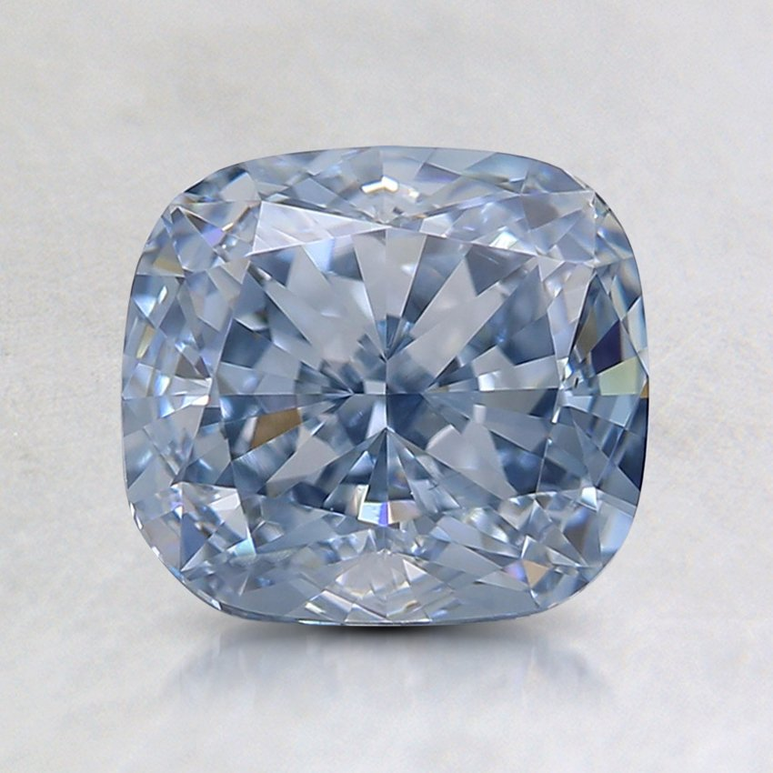 1.76 Ct. Lab Created Fancy Light Blue Cushion  Diamond