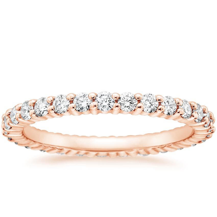 Rose Gold Shared Prong Eternity Diamond Ring