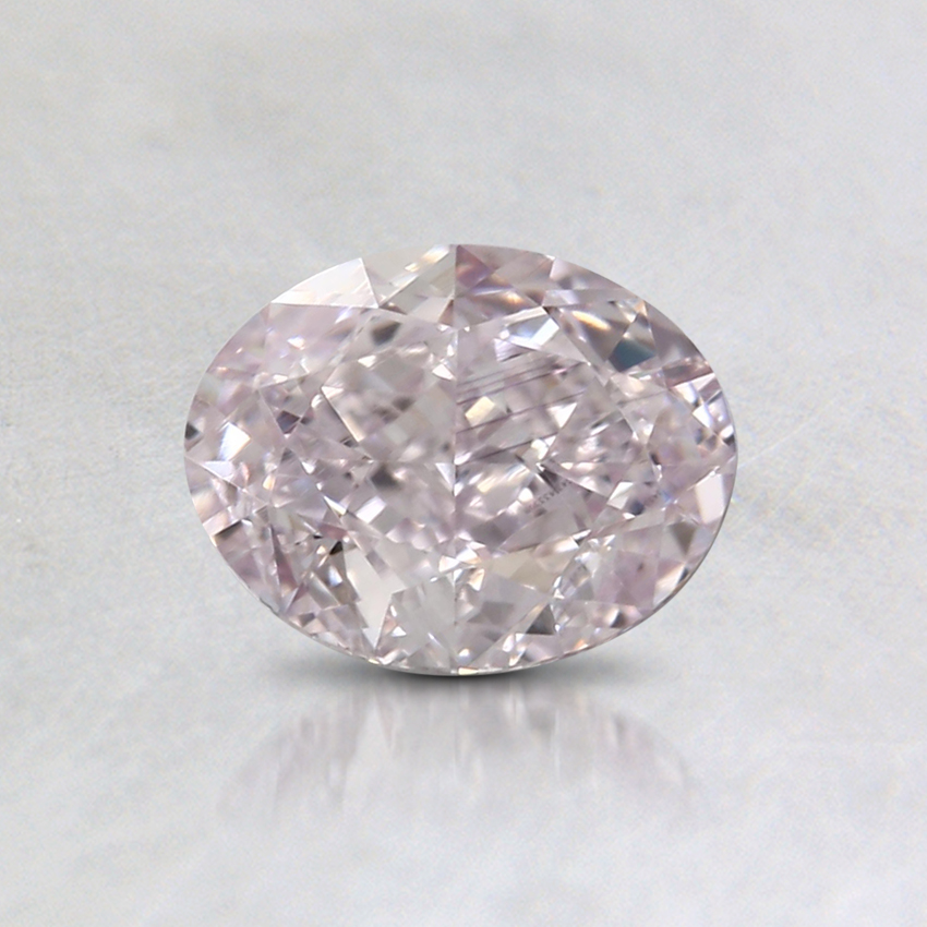 0.71 Ct. Fancy Light Pink Oval Colored Diamond