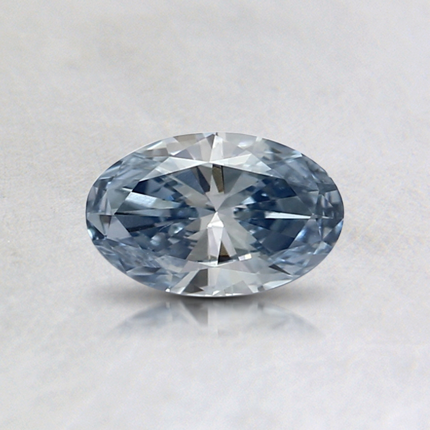 0.32 Ct. Light Blue Oval Lab Created Diamond