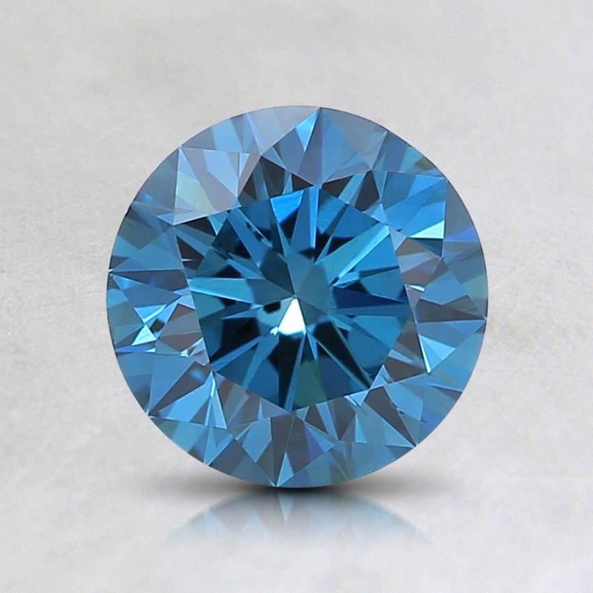 1.06 Ct. Fancy Deep Blue Round Lab Created Diamond