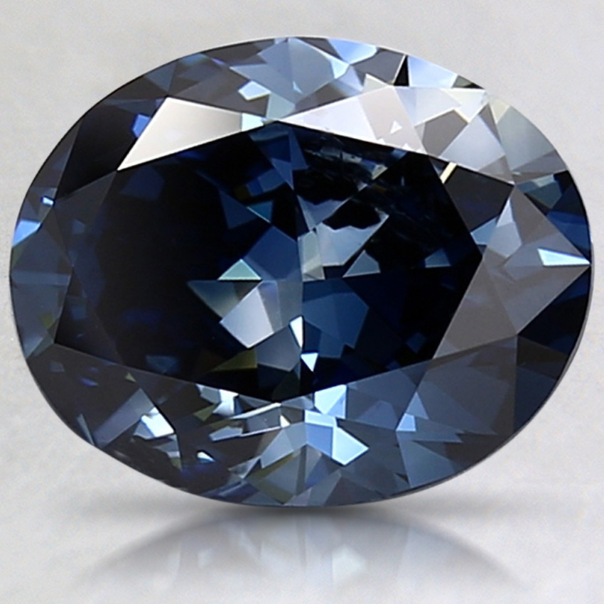 2.35 Ct. Fancy Dark Blue Oval Lab Created Diamond