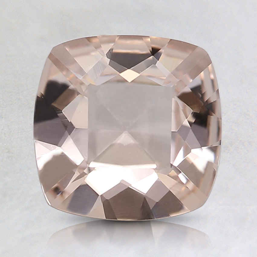 7.4x7.5mm Peach Cushion Morganite