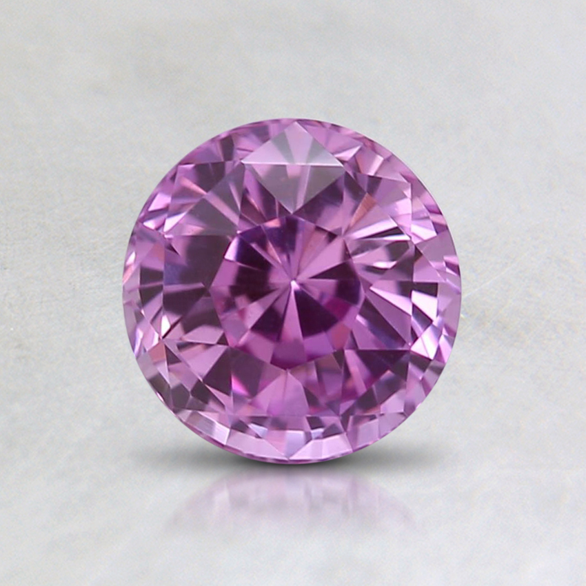 6mm Unheated Pink Round Sapphire