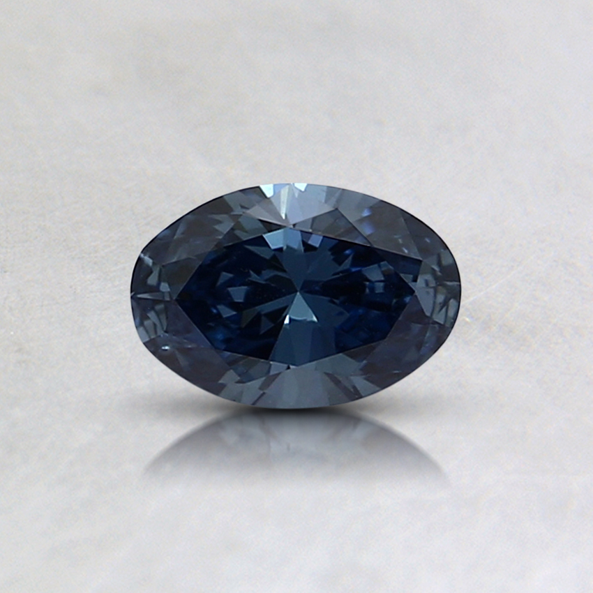 0.32 Ct. Fancy Deep Blue Oval Lab Created Diamond