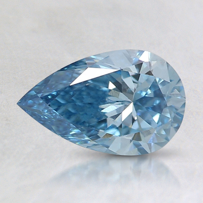 0.90 Ct. Fancy Intense Blue Pear Lab Created Diamond