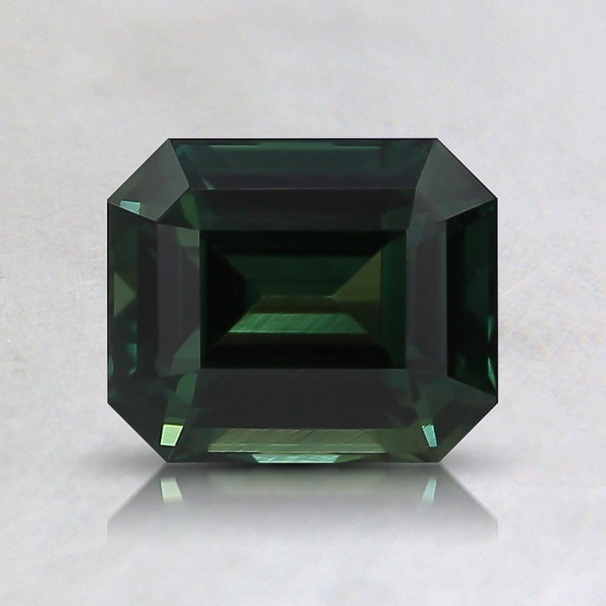 6.7x5.5mm Unheated Teal Emerald Sapphire