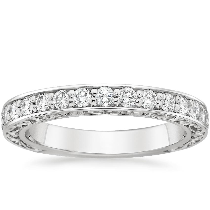 Top Twenty Women's Wedding Rings - ANTIQUE SCROLL DIAMOND RING