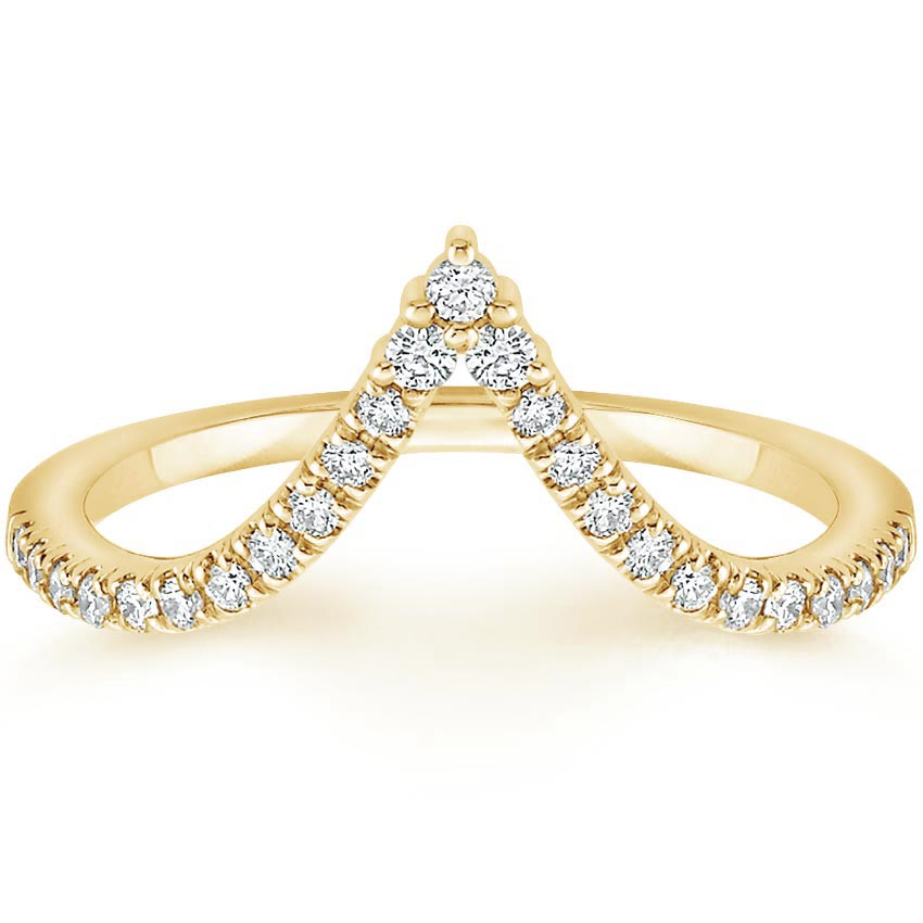Yellow Gold Nouveau Diamond Ring