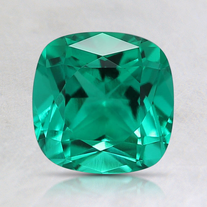 7mm Cushion Lab Created Emerald