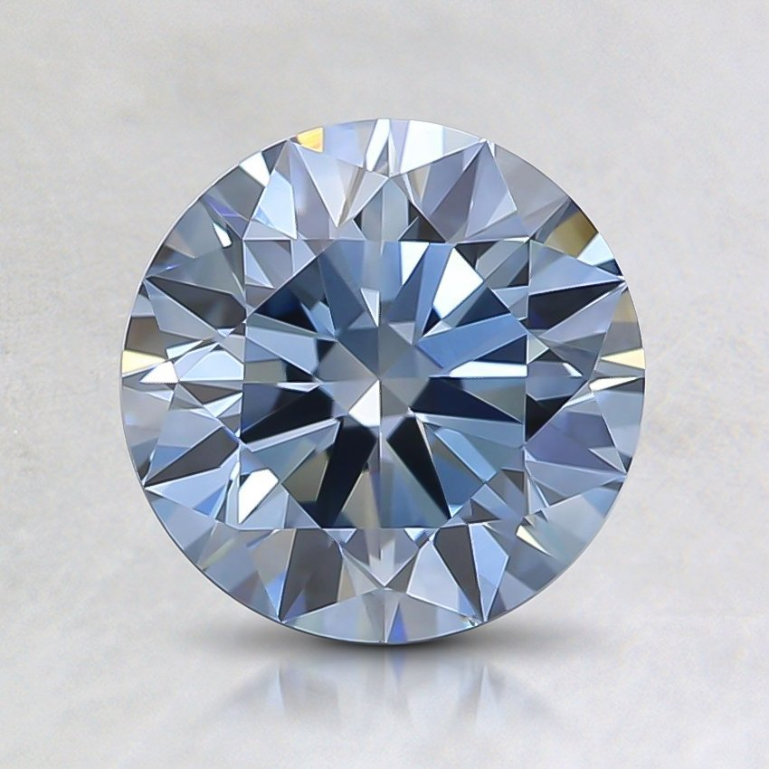 1.25 Ct. Fancy Blue Round Lab Created Diamond