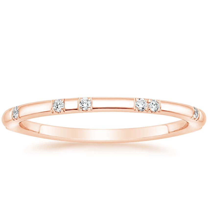 Rose Gold Diamond Accent Band
