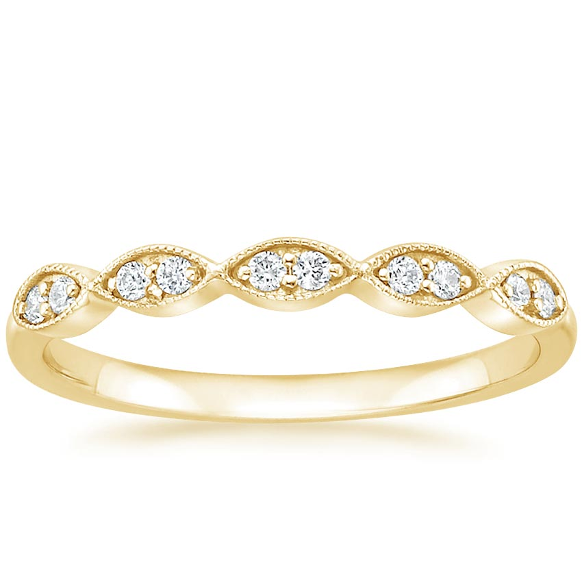 Yellow Gold Cadenza Diamond Ring (1/10 ct. tw.)