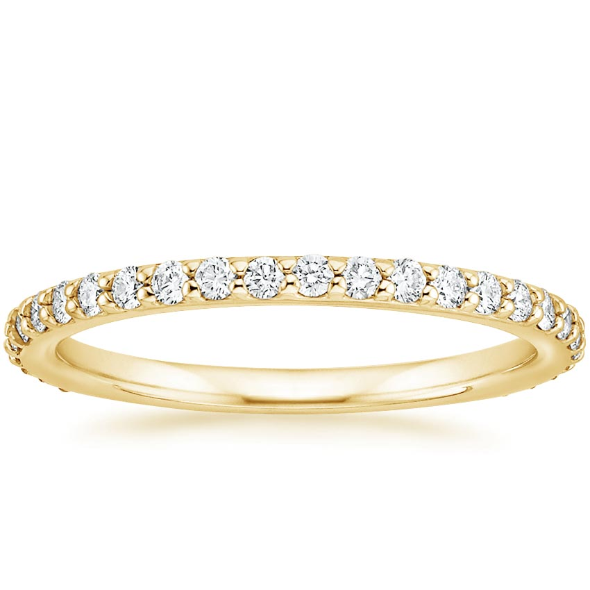 Yellow Gold Luxe Petite Shared Prong Diamond Ring (3/8 ct. tw.)