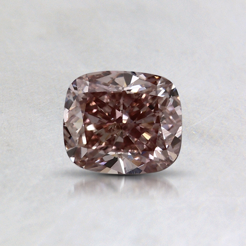 0.54 Ct. Fancy Brown-Pink Cushion Colored Diamond