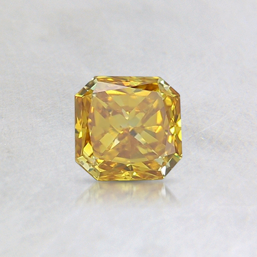 0.34 Ct. Fancy Intense Yellow Cushion Lab Created Diamond