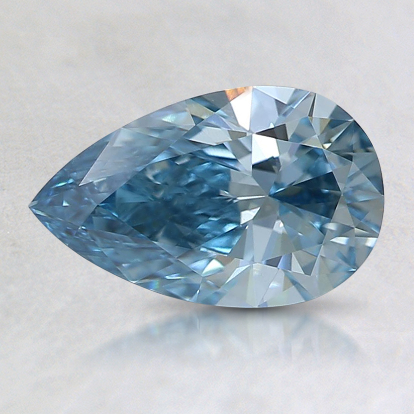 0.93 Ct. Fancy Intense Blue Pear Lab Created Diamond