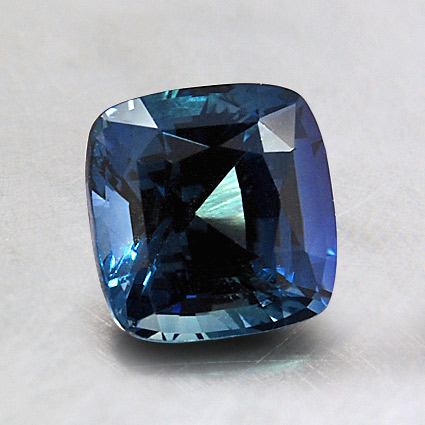 6.5mm Premium Cushion Blue Sapphire, top view