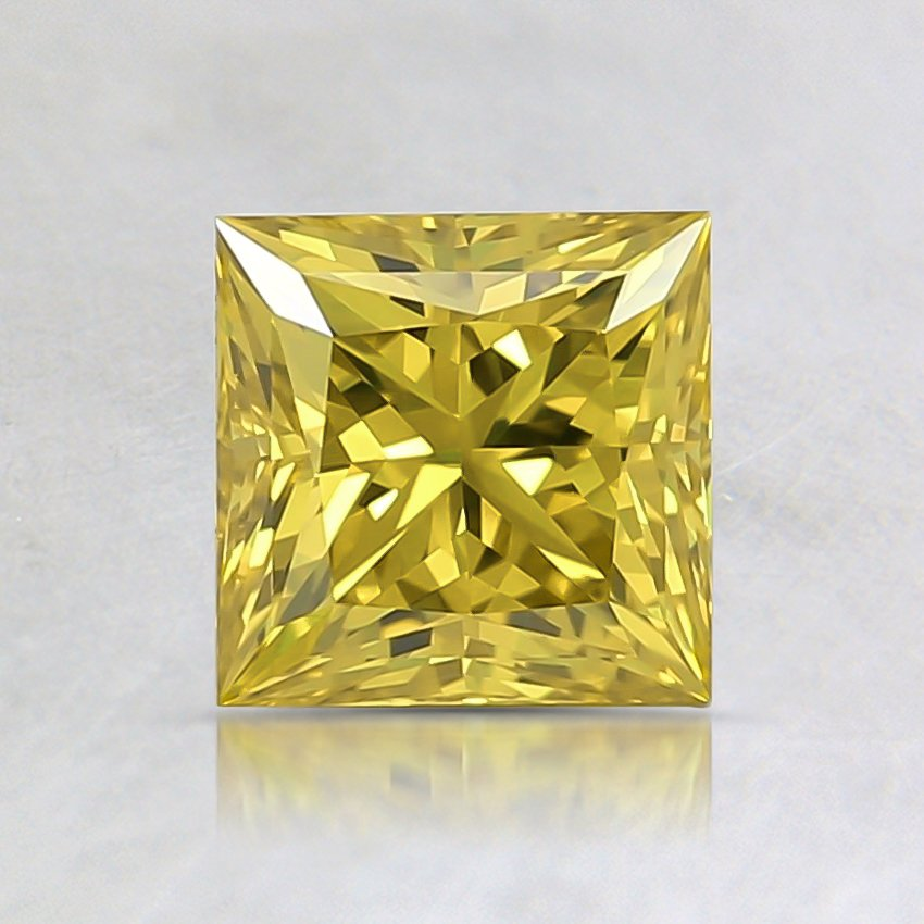0.74 Ct. Fancy Vivid Yellow Princess Lab Created Diamond