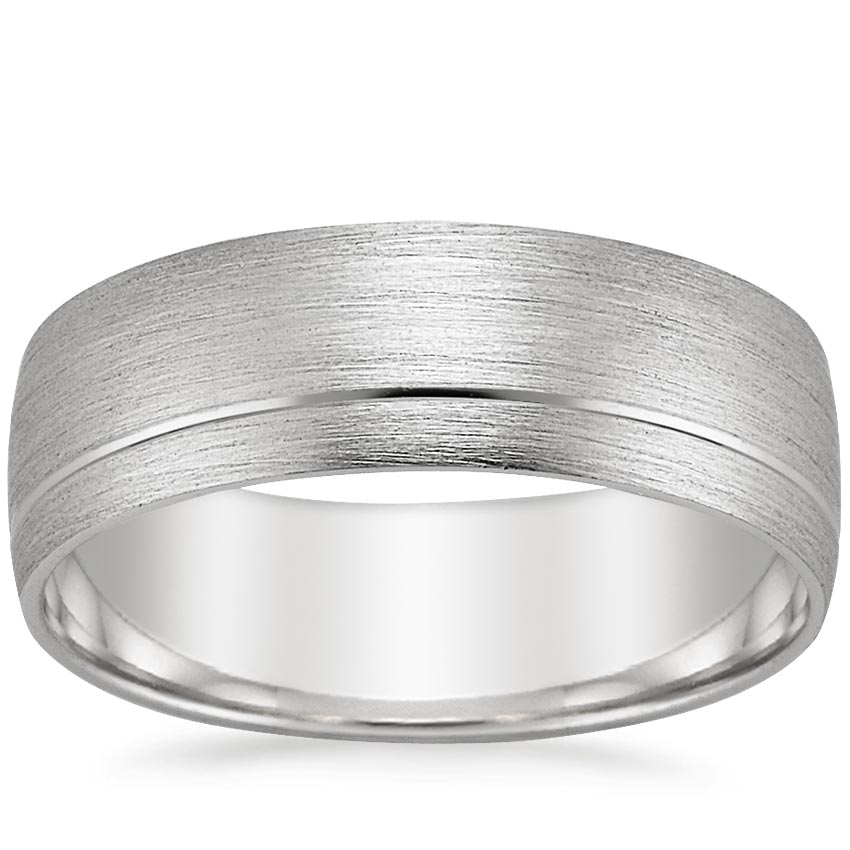 18K White Gold Patagonia Wedding Ring, top view