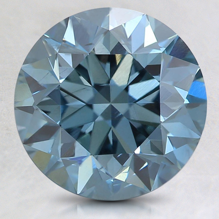 3.08 Ct. Fancy Intense Blue Round Lab Created Diamond