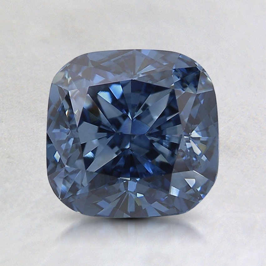 1.7 Ct. Lab Created Fancy Deep Blue Cushion  Diamond