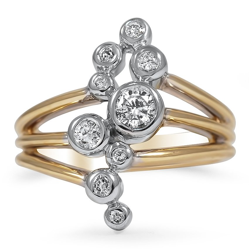The Kenzie Ring, top view