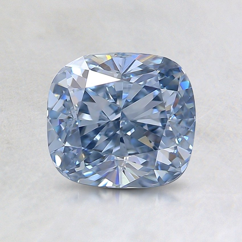 1.23 Ct. Fancy Blue Cushion Lab Created Diamond