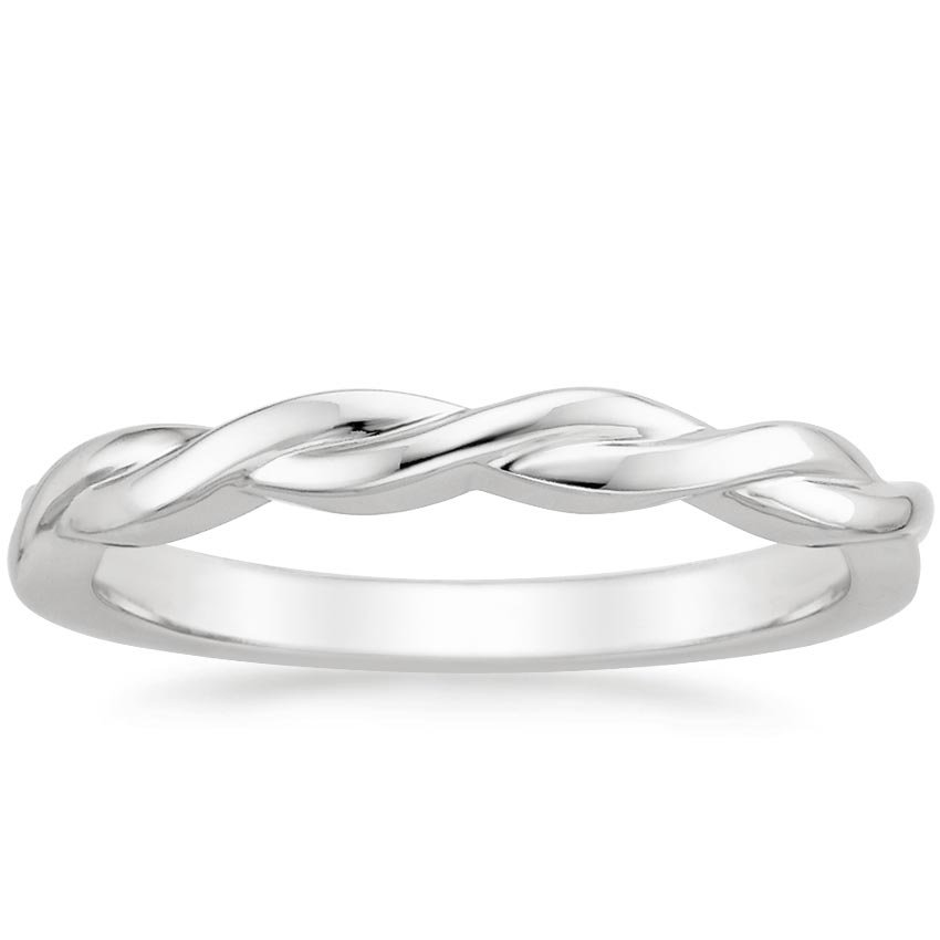 Twisted Vine Ring in Platinum