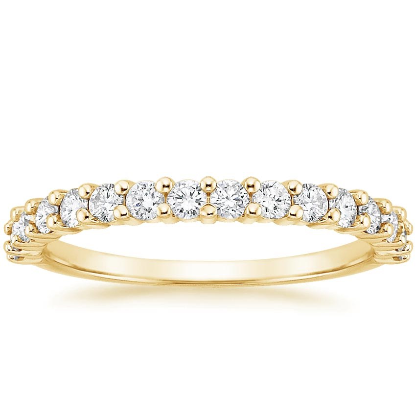 Yellow Gold Shared Prong Diamond Ring