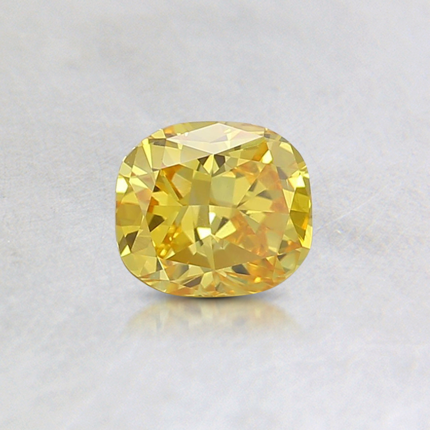 0.44 Ct. Fancy Intense Orangy Yellow Cushion Lab Created Diamond