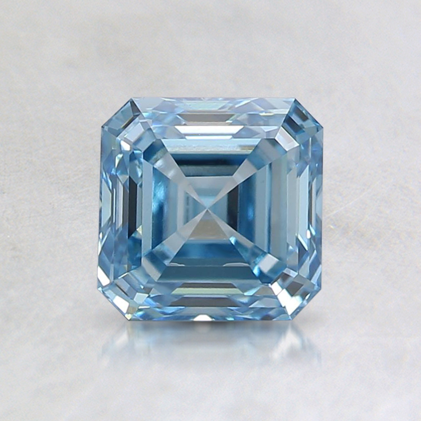 1.00 Ct. Fancy Blue Asscher Lab Created Diamond