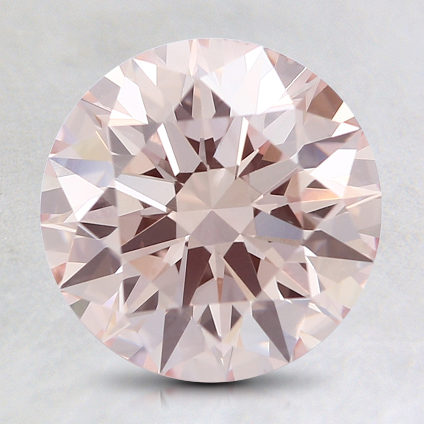 2.00 Ct. Fancy Light Orangy Pink Round Lab Created Diamond