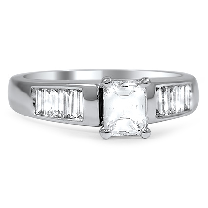 The Liora Engagement Ring, top view