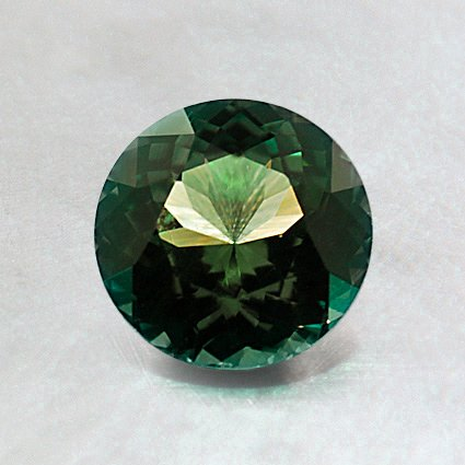 6.5mm Premium Green Round Sapphire, top view