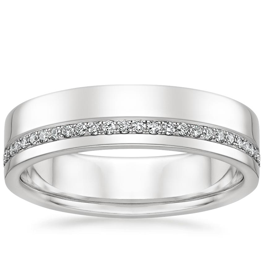 Austin Diamond Wedding Ring in 18K White Gold