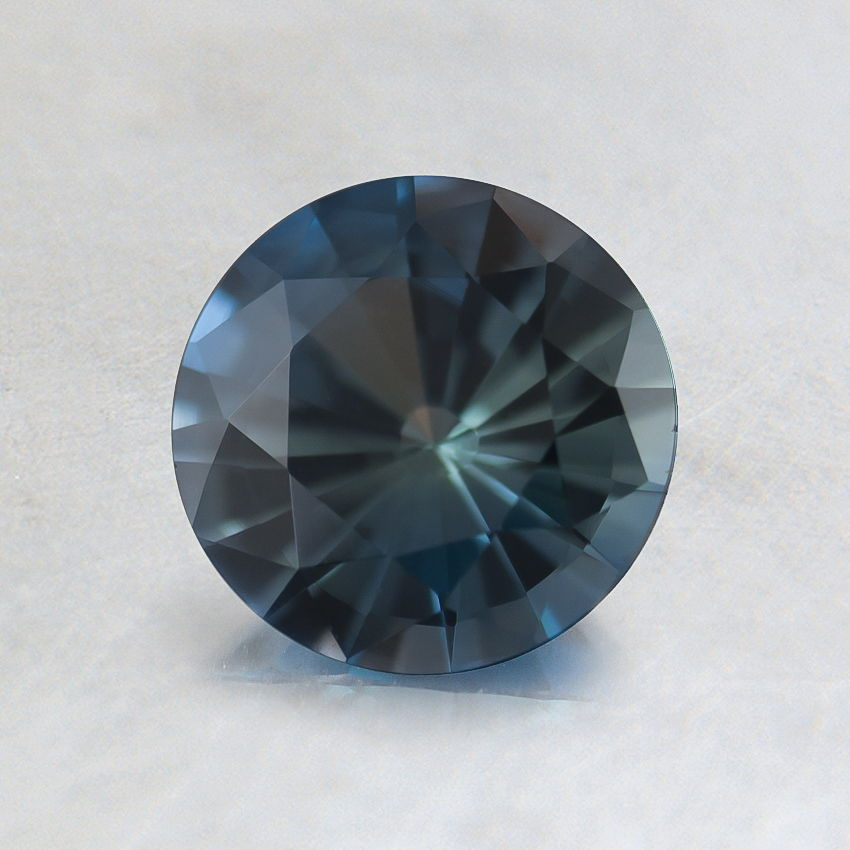 6mm Unheated Teal Round Sapphire