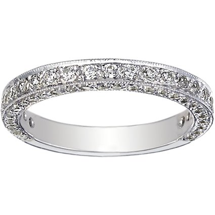 18K White Gold Luxe Pavé Diamond Ring (3/4 ct. tw.), top view