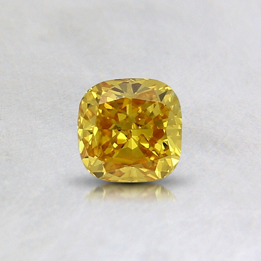 0.33 Ct. Fancy Vivid Yellow Radiant Lab Created Diamond