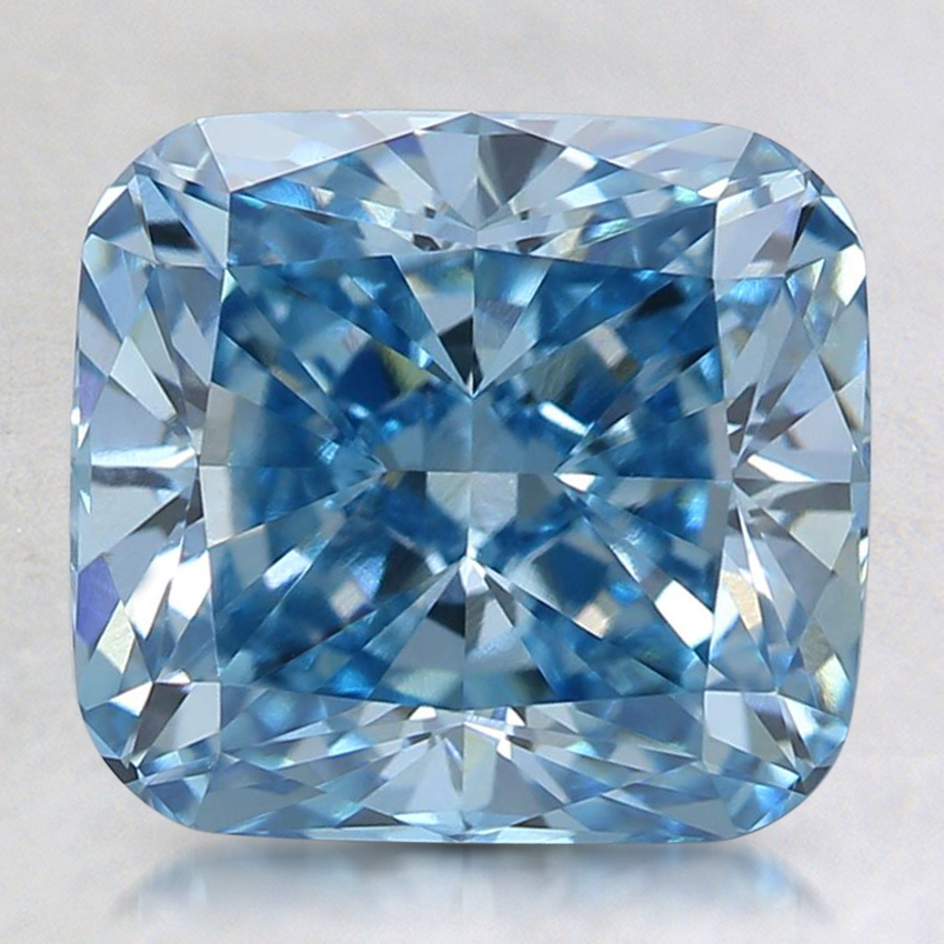 3.12 Ct. Fancy Intense Blue Cushion Lab Created Diamond