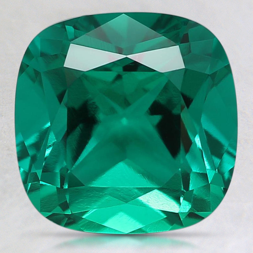 9mm Cushion Lab Created Emerald