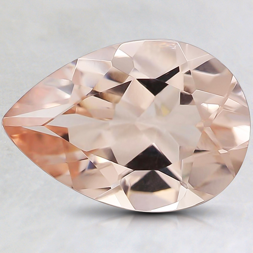 10x7mm Peach Pear Morganite