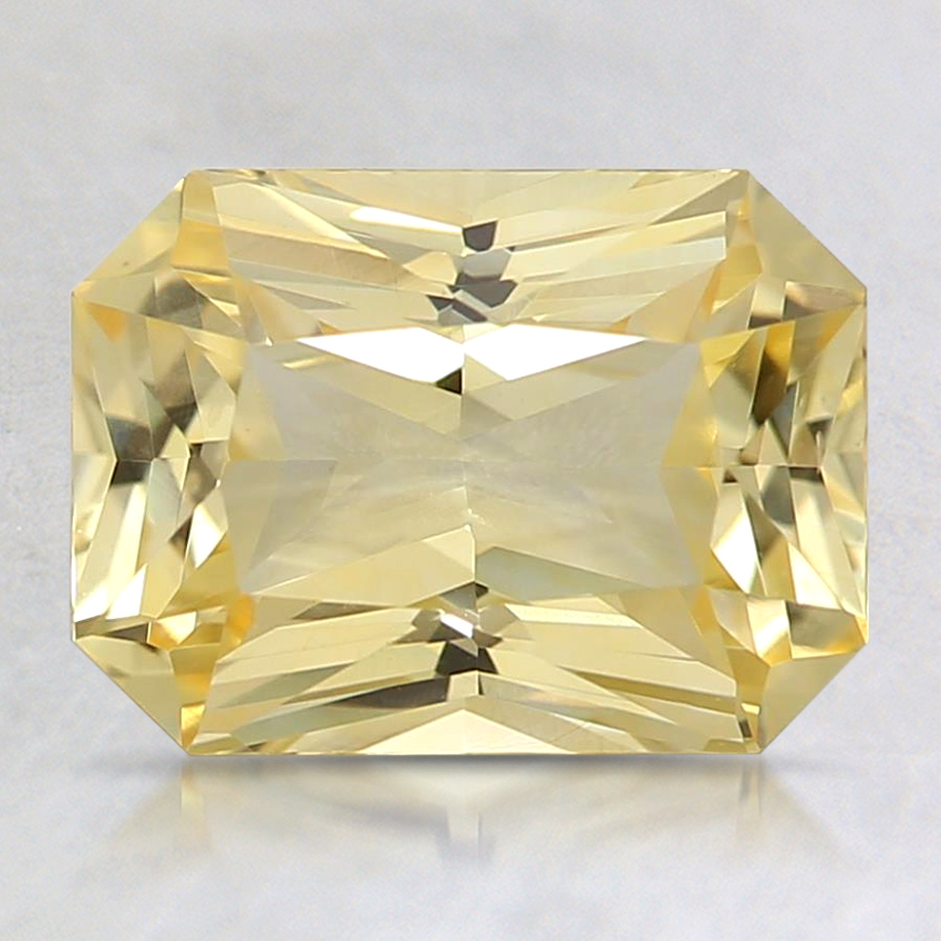 8.6x6.3mm Unheated Yellow Radiant Sapphire