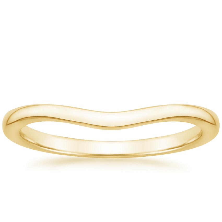 Yellow Gold Petite Curved Wedding Ring