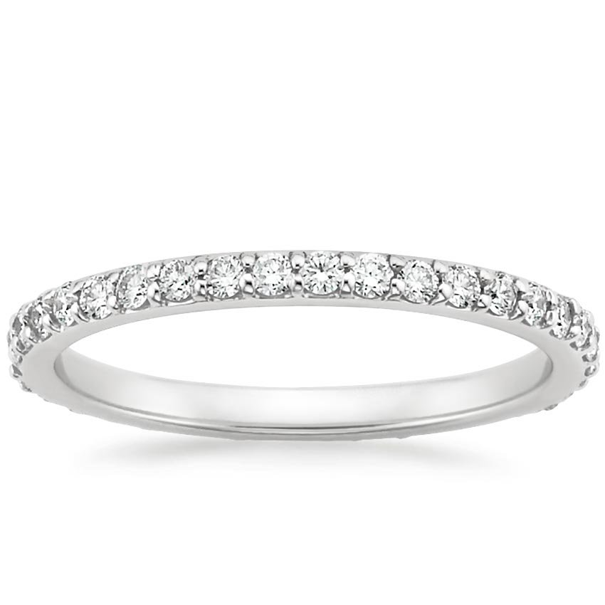Platinum Petite Shared Prong Eternity Diamond Ring (1/2 ct. tw.), top view